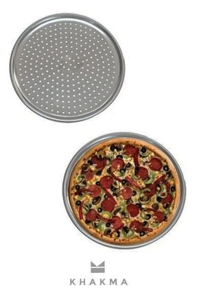 Lilya Home Delikli Pizza Tepsisi Lahmacun Pide Tepsisi 32cm