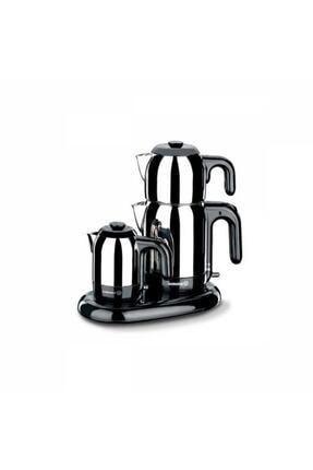 KORKMAZ Mia Inox/siyah Çay Kahve Makinesi