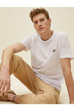 Koton Erkek T-shirt Beyaz 1yam11638fk