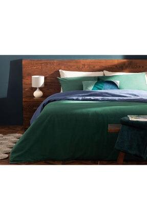 English Home Plain Flanel Tek Kişilik Nevresim Takımı 160x220 Cm Yeşil-mavi