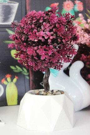 PULPO Dekoratif Oval Masa Üstü Kırmızı Yapay Çiçek