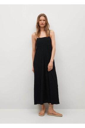 MANGO Woman Dokuma Koton Elbise