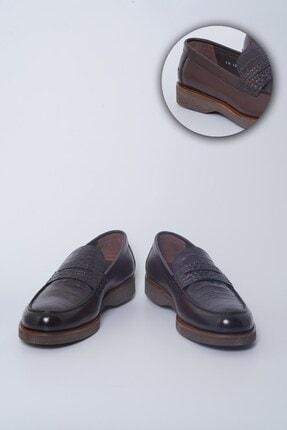 Buffalo Milano El Yapımı Kahverengi Loafer Ayakkabı
