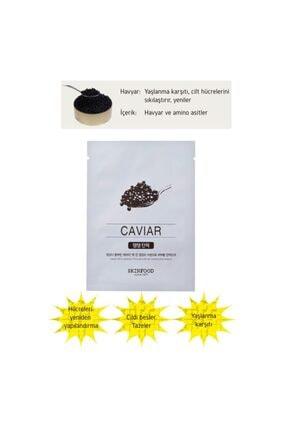 Skinfood Tek Kullanımlık Yüz Maskesi Havyar 18 ml  8809427868949