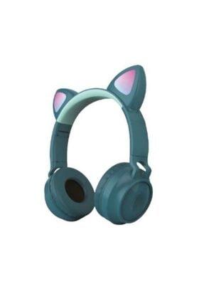 Sunix Parlayan Kedi Kulak Üstü Müzik Kulaklığı  Yeşil