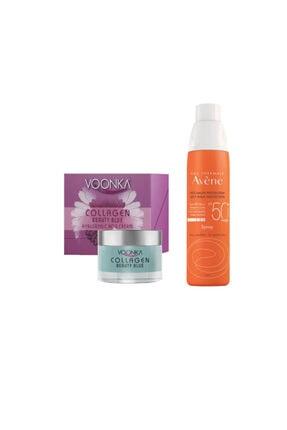 Avene Yüksek Koruyucu Güneş Spreyi Spf50+ 200 Ml+voonka Collagen Beauty Blue Hyaluronic Acid Cream 50 Ml