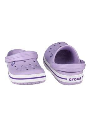 Crocs Lila Unisex Crocband Kenarı Mor Çizgili Terlik Sandalet 11016-50q