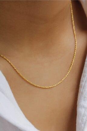 Başbuğ Mücevher 14 Ayar Altın Burgu Zincir Kolye