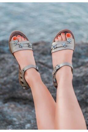 ESPARDİLE Tonx Vizon Cilt Sandalet