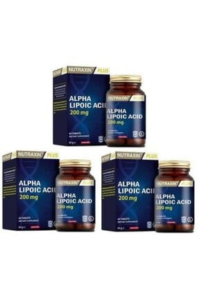 Nutraxin Alpha Lipoic Acid 60 Tablet X 3 Adet