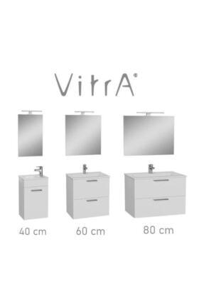 VitrA Mia Set 80 Cm Banyo Dolabı Parlak Beyaz