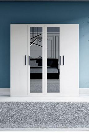 Metalia Gm 051 4 Kapılı Aynalı Gardrop Dolap