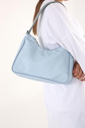 Ekrumoda Bebe Mavisi Baget Omuz ve Kol Çantası