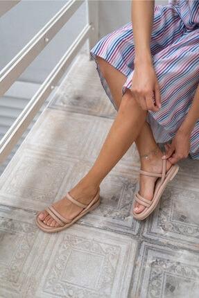 ANGELİNA JONES Marylan Kadın Nude Vegan Deri Sandalet