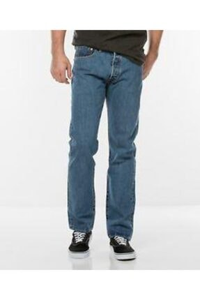 Levi's Erkek Mavi Jean Pantolon 501 Original 00501-0193