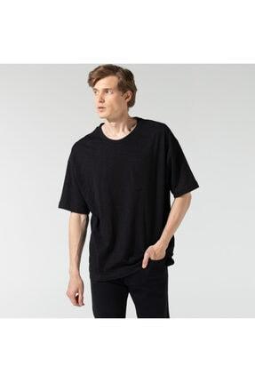 Nautica Nautıca Erkek Siyah Oversıze Baskılı T-Shirt
