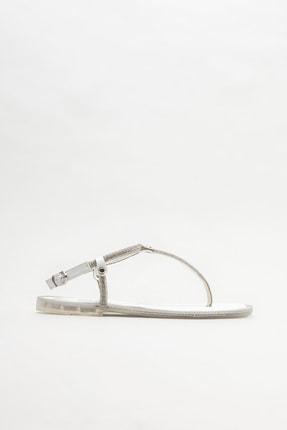 Elle Shoes Kadın Beyaz Parmak Arası Sandalet