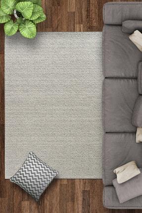 Caretta Home Vinterio Serisi Gri Dekoratif Modern Bukle Dokuma Halı Kilim
