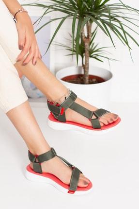 irmona Füme Düz Taban Cırt Cırtlı Sandalet(ayakabbı Terlik Shoes)