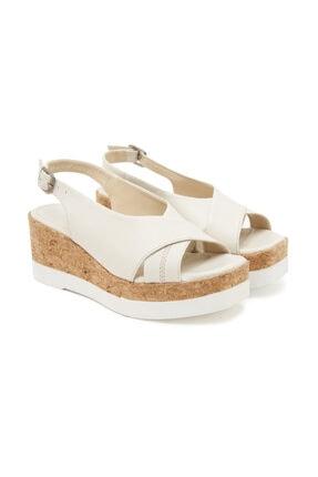 Desa Beyaz Fleur Kadın Sandalet