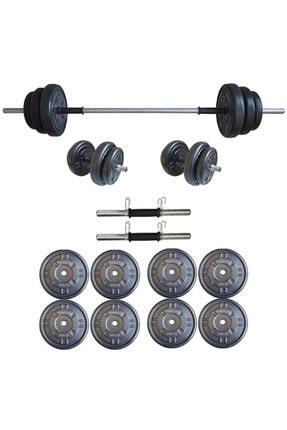 Dambılcım Platinum 25 kg Halter Seti 25 kg Dambıl Seti Ağırlık Seti Vücut Geliştirme Aleti