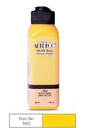 Artdeco Koyu Sarı Akrilik Boya 140 ml