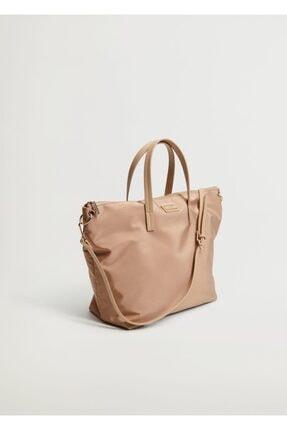 MANGO Woman Kadın Naylon Shopper Çanta