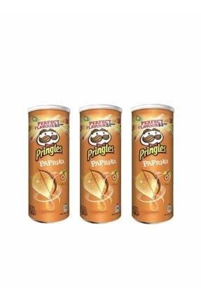Pringles Paprika 130 Gr X 3 Adet