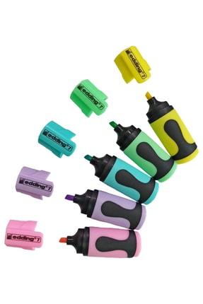 Edding Pastel Renkler Mini Fosforlu Kalem 5'li Set