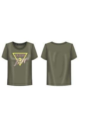Guess Ss Cn Kadın Haki Rengi Tişört
