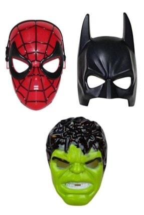 Hyd Spiderman Örümcek Adam Batman Ve Hulk 3'lü Maske Set