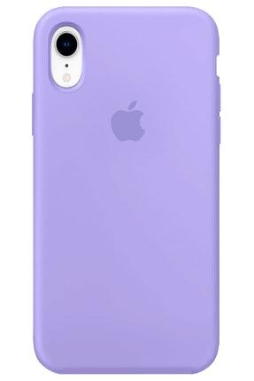 Apple Iphone Xr Kılıf Logolu Lansman Altı Kapalı Içi Süet - Lila + Popsocket