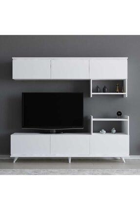 ARNETTİ Hazal Tv Ünitesi Yaşam Odası, Salon, Ve Oturma Odası, Tv Sehpası Beyaz