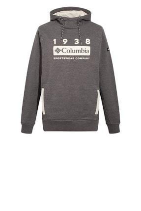 Columbia Erkek Gri M Lodge Hoodie Sweatshirt Cs0089-031
