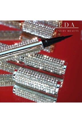 EDA LUXURY BEAUTY Diamond Liquid Eyeliner Lüks Kristal Göz Makyajı Waterproof Suya Dayanıklı Vegan Siyah Göz Kalemi