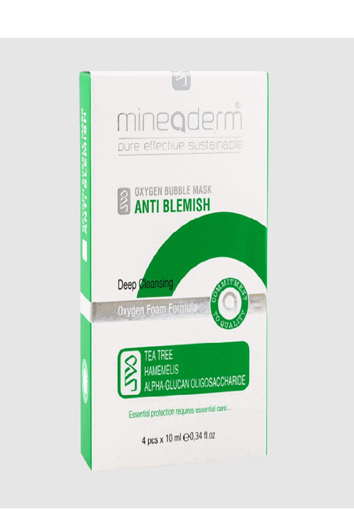 mineaderm Yağlı Ciltler İçin Arındırıcı Maske - Oxygen Bubble Mask Anti Blemish 4 x 10 ml 8680525352109