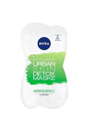 Nivea Urban Skin Detox Maske - Soyulabilir Arındırıcı Maske 2 Adet (2x5 ml )