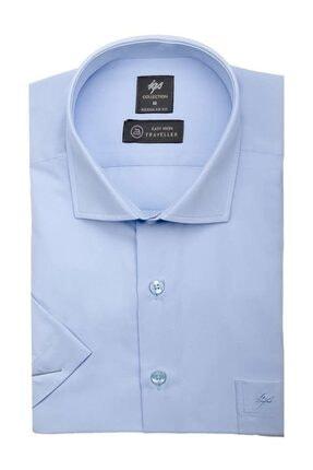 İgs Erkek Regularfıt  Rahat Kalıp Gömlek Kısa Kol