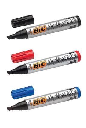 Bic Marking 2300 Marking Kesik Uçlu Permanent Marker 3 Lü Set