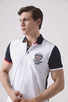 D'S Damat Regular Fit Beyaz Baskılı T-shirt