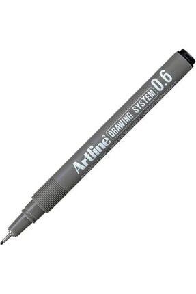 artline Çizim Kalemi Siyah 06 Uçlu