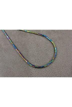 Shine Jewelery Paslanmaz Çelik Renkli Hematit Kolye