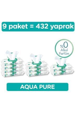 Prima Islak Havluaqua Pure 9'lu Fırsat Paketi 432 Yaprak