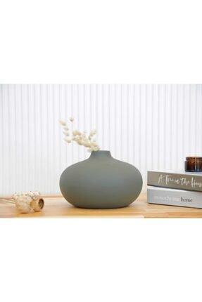 RULİNA Sphere Seramik Vazo (küf Yeşili )