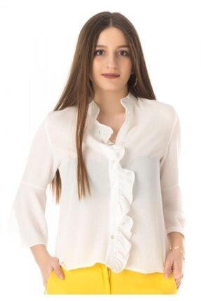 Modkofoni Fırfır Detaylı Beyaz Gömlek