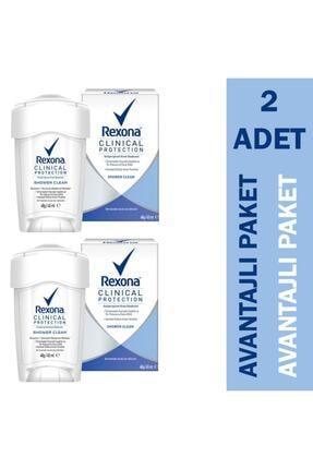 Rexona Clinical Protection Shower Clean Kadın Deodorant 2'li Paket Fırsat