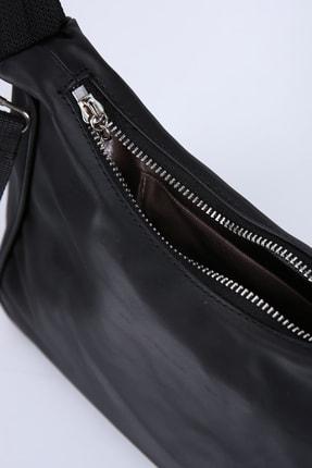 Ekrumoda Siyah Baget Omuz Ve Kol Çantası