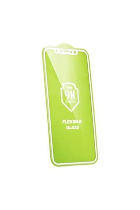 DTTECH Iphone 6/6s Plus Uyumlu 6d 9h Flexible Nano Esnek Ekran Koruyucu Beyaz
