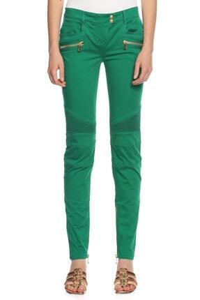 BALMAIN Kadın Yeşil Pantolon