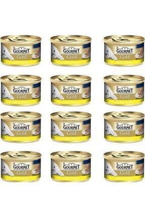 Purina Gourmet Gold Kıyılmış Tavuk Etli Kedi Konservesi 85 Gr X 12 Li Paket